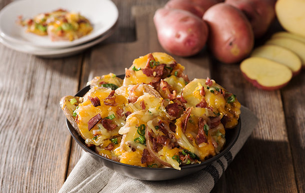Roasted Cheesy Bacon Rounds Recipe