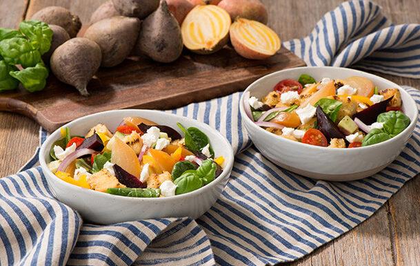 Roasted Two-Beet Panzanella Salad Recipe
